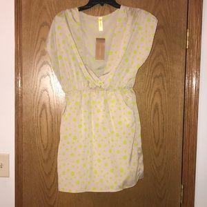 Francesca's cream/tan dress